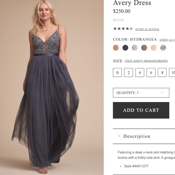 516ea5c3811e BHLDN Dresses | Bhld Avery Dress Hydrangea Gray Size 4 | Poshmark